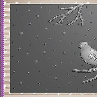"3D Embossing folder ""bird on branch"""