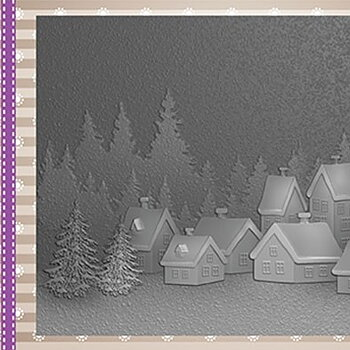 "Embossing folder ""Snowy village"""
