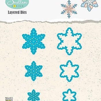"""Layered Dies """"snowflakes 01"""""""