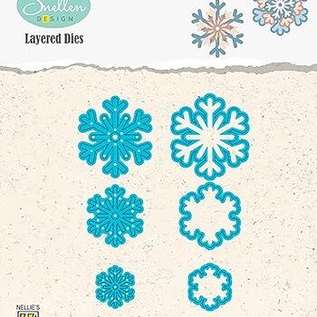 """Layered Dies """"snowflakes 03"""""""