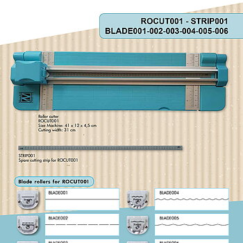 "Blade for ROCUT001 Roller cutter ""straight"""