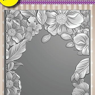 "3D Embossing folder ""Flower Frame"""