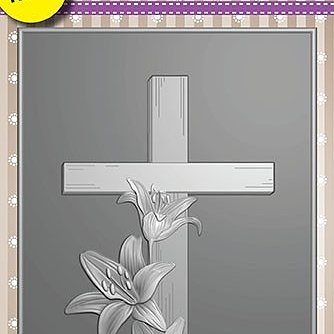 "3D Embossing folder ""Cross with lilies"""