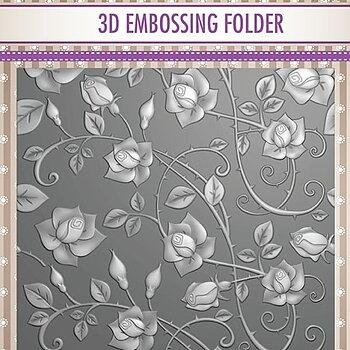 """3D Embossing folder """"Roses"""""""