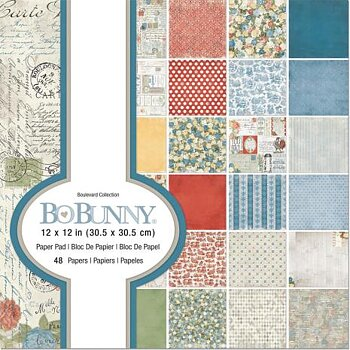 BoBunny Single-Sided Paper Pad 12X12 48/Pkg - Boulevard