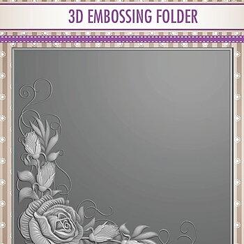 """3D Embossing folder """"Rose Corner"""""""