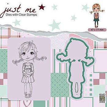 "Just Me dies + Clear stamp ""Back to school"""