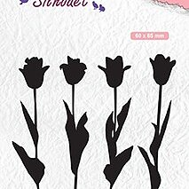 "Silhouet clear stamps ""Tulips"""