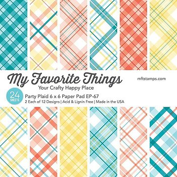 6x6 Party Plaid Paper Pad