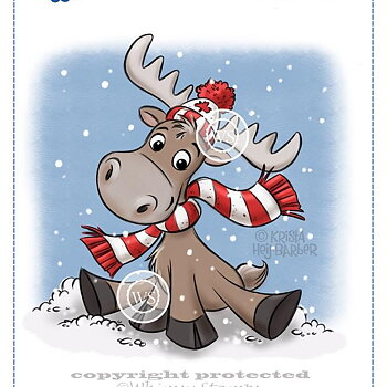 Cling Stamps - Merry Moose-mas