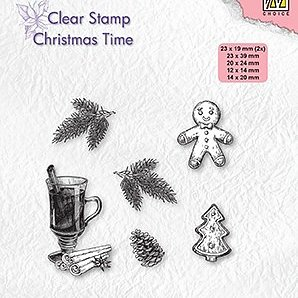 "Clear stamps Christmas time ""Christmas decorations"""