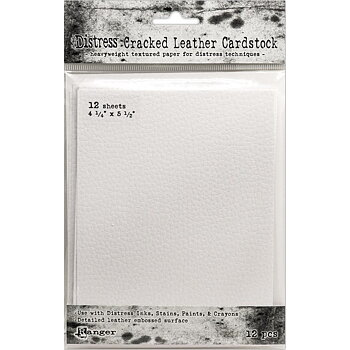 Tim Holtz Distress Cracked Leather Cardstock 12/Pkg
