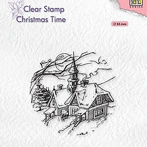 "Clear stamps Christmas time ""Snowy Christmas scene"""