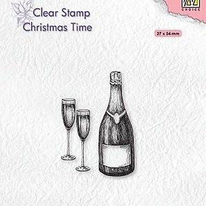 "Clear stamps Christmas time ""Happy New Year"""