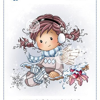 Holly Rubber Cling Stamp