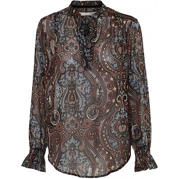 Costamani Blus Rebecca Paisley Blue Brown
