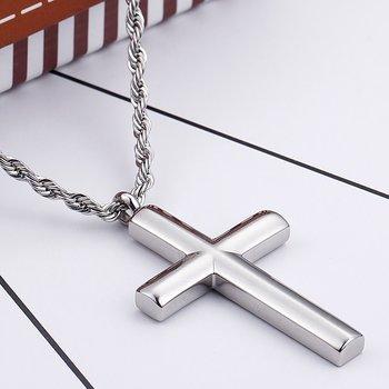 Berlock stort kors stål