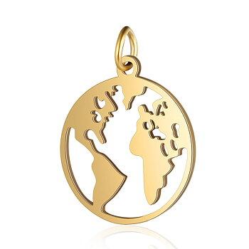 Världen berlock guld