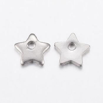 Berlock mini stjärna rostfritt stål