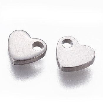Berlock mini hjärta rostfritt stål