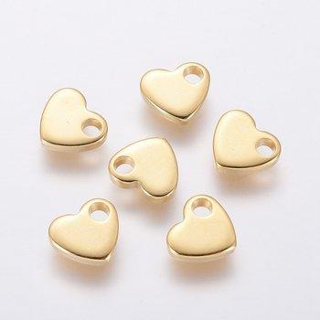 Berlock mini hjärta guldfärgat rostfritt stål