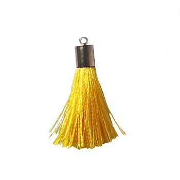Tofs med metallhylsa gul