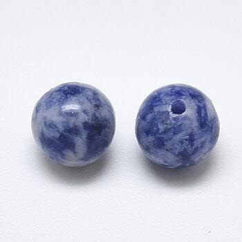 Blåfläckig jaspis halvborrad 10 mm