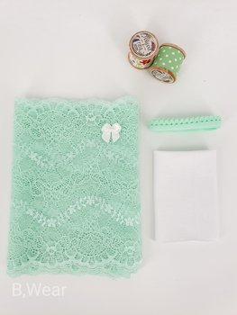 Lace kit for panties  - Mintgreen