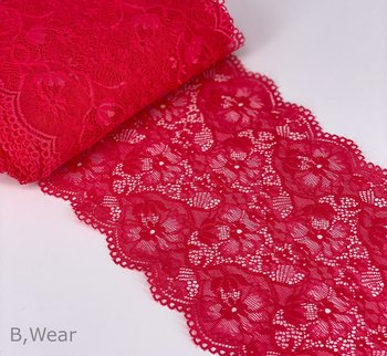 Beautiful stretch lace in Summer pink shade