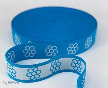 40 mm wide Turquoise with flowers