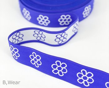 40 mm wide Royalblue with flowers