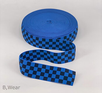Checkered - Royalblue/black - 40 mm