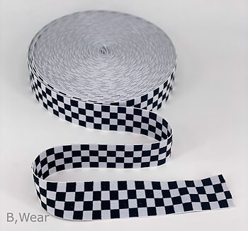 Checkered - White/black - 40 mm