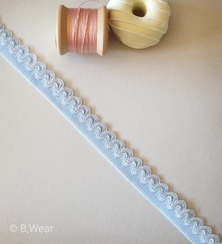Light blue elastic with Decor - 15 mm