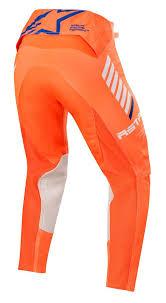 Alpinestars Supertech Byxor Orange Flu/Vit/Blå