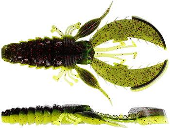 Westin - CreCraw Creaturebait 10cm 12g - Black/Chartreuse (4-pack)