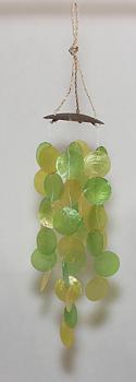 WindChime Capiz Green - Vindspel