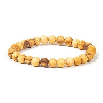 Palo Santo bracelet round beads S elastic -- 0.6 cm