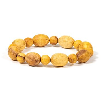 Palo Santo bracelet round and oval elastic -- 0.8 cm