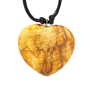 Palo Santo heart necklace -- 4 cm