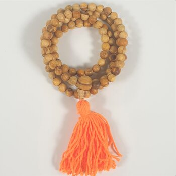 Palo Santo mala with Guru bead -- 0.9 cm