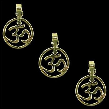 Ohm pendant brass gold colour