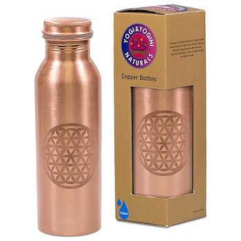 Copper Bottle Livets blomma etched