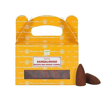 Sandalwood backflow incense cones -- 75 g