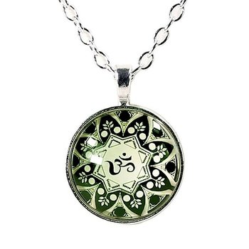 Necklace Ohm mandala
