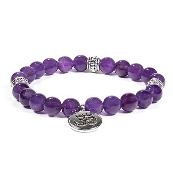 Mala/bracelet amethyst  with ohm