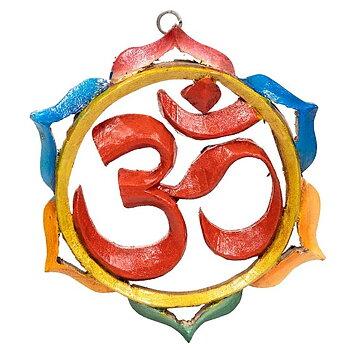 AUM symbol wood mandala