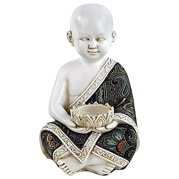 Little monk with tealight holder