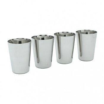 Muggar av rostfritt stål (4-pack)