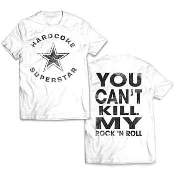 HARDCORE SUPERSTAR - T-SHIRT, VINTAGE TRASH LOGO - YCKMRNR (WHITE)